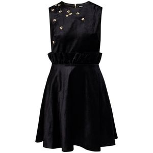 Ted Baker Celeena Queen Bee Dress Black Velvet 12